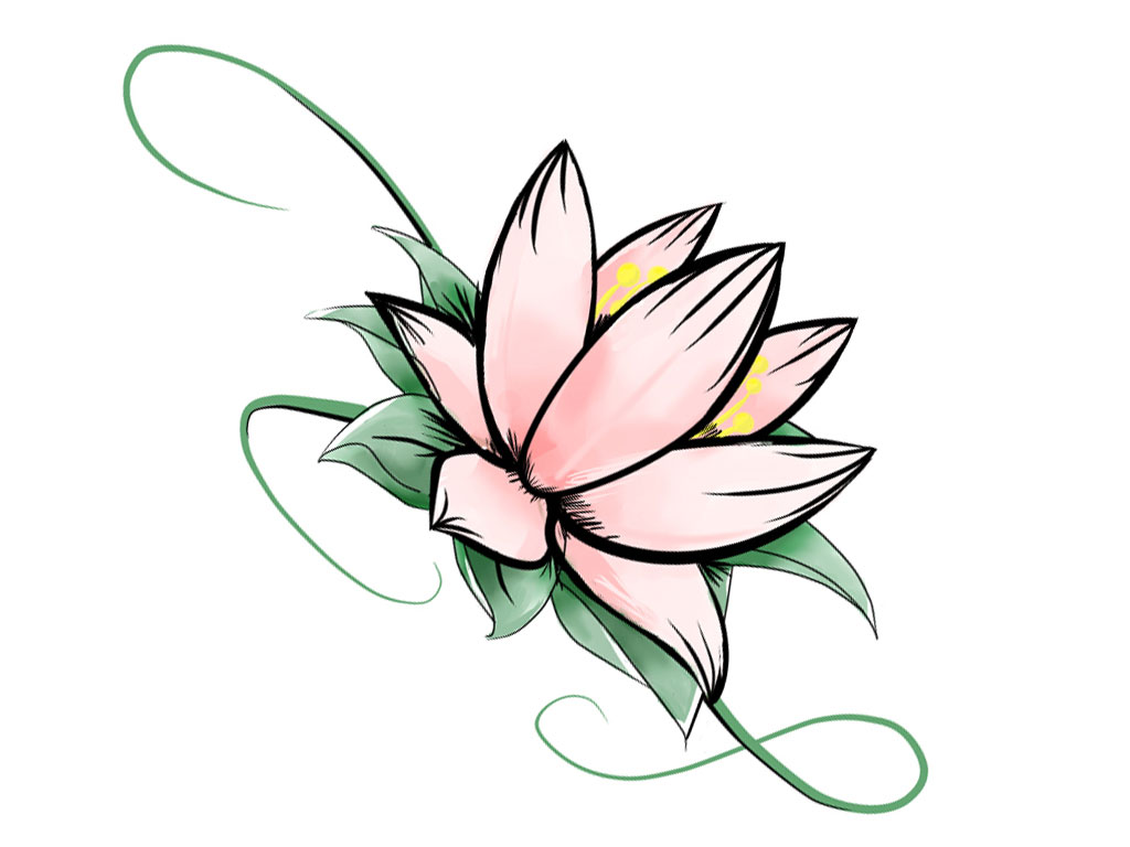 Lotus Flowers Easy To Draw Clipart Best