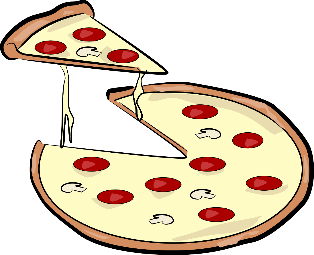 Pepperoni Pizza Slice Clip Art Black And White - ClipArt Best