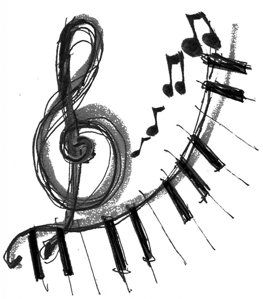 Music Notes Drawings - Drawing Pencil