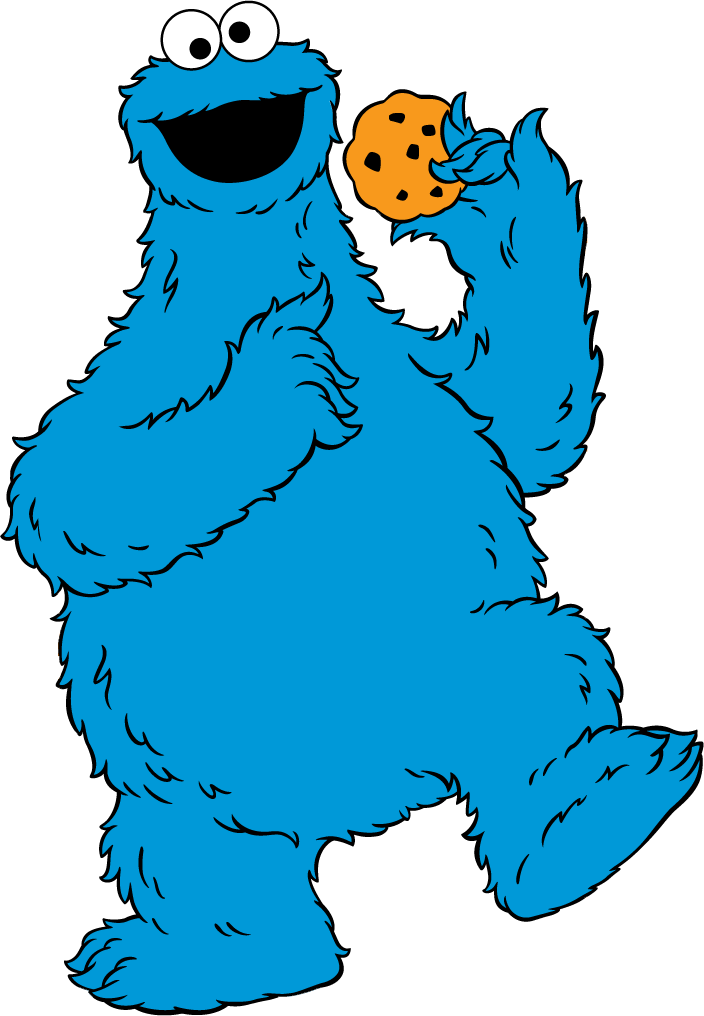 Cookie monster clipart baby