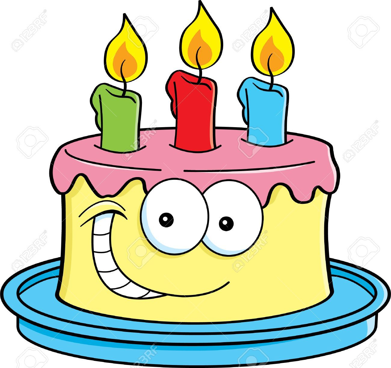 Picture Of A Cartoon Birthday Cake