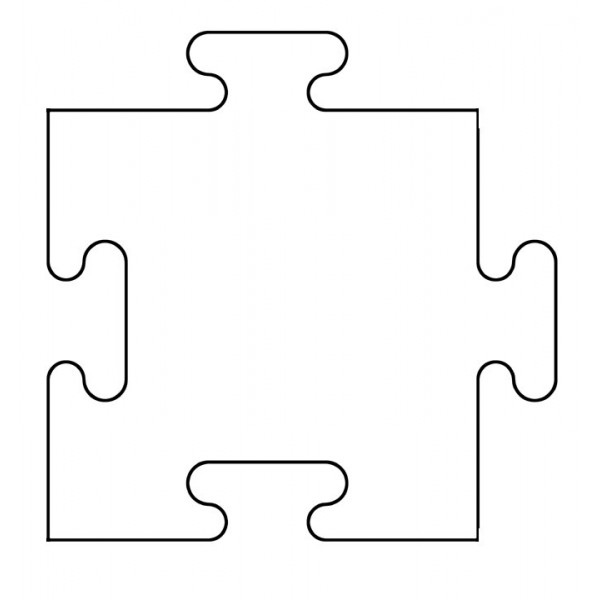 Printable puzzle piece template clipart best for Large blank puzzle pieces template
