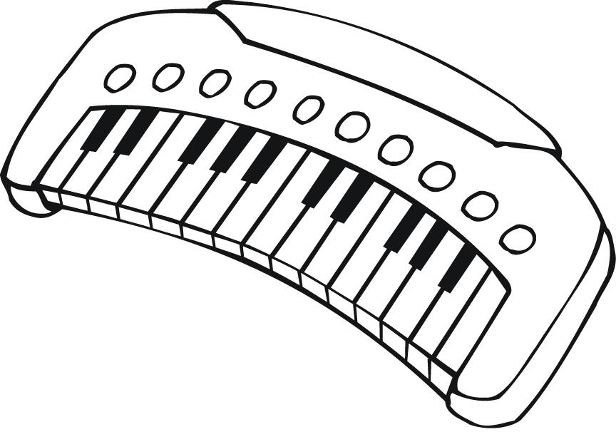 piano keys coloring pages - photo#25