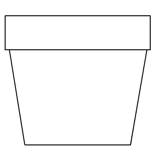 Transformative image within printable flower pot