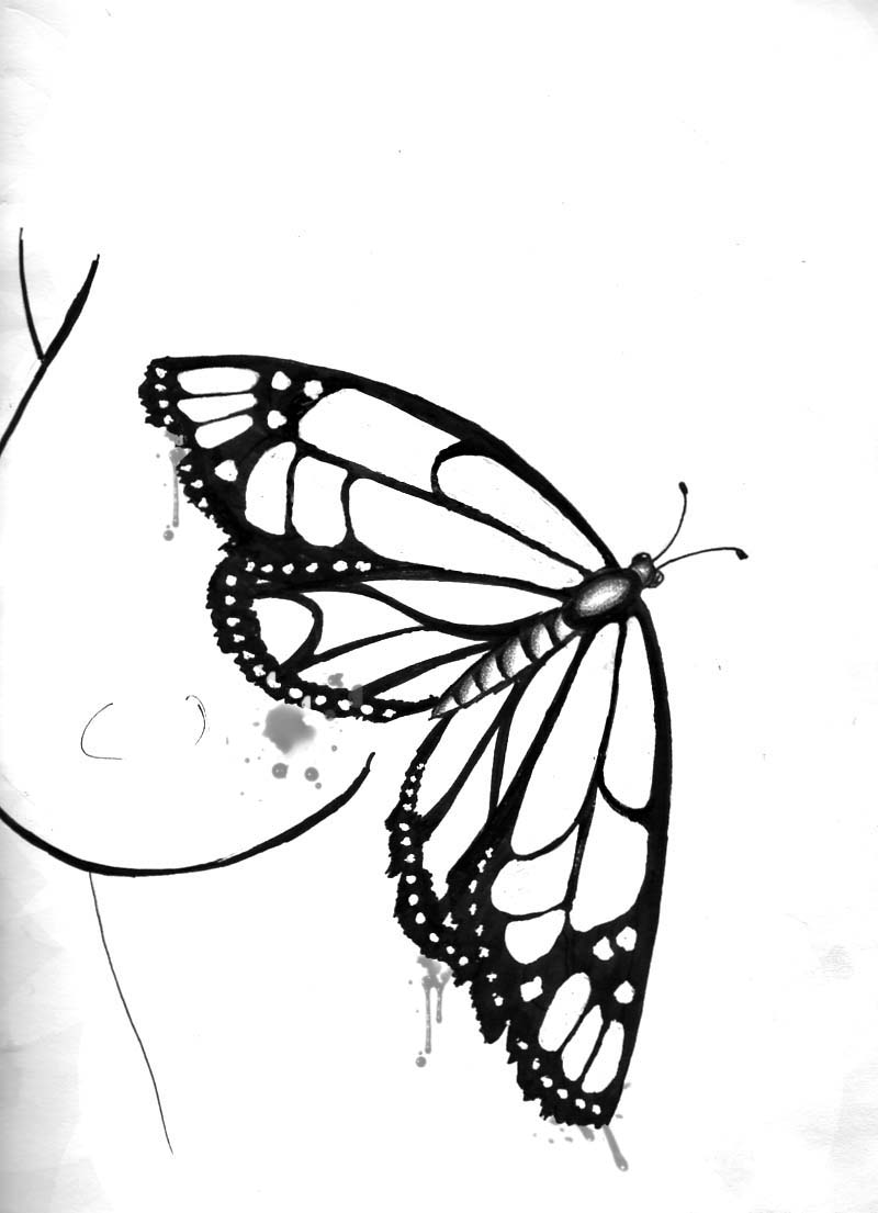 Butterfly Tattoo Design 1 - ClipArt Best - ClipArt Best