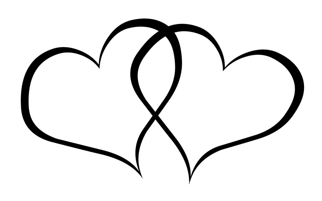 Double Hearts Wedding Clipart