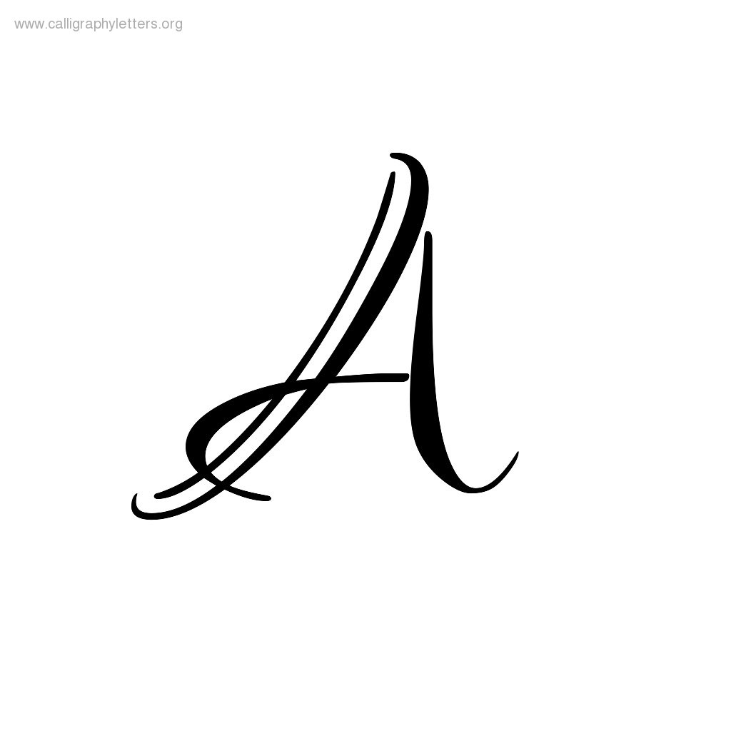 Calligraphy letter a clipart best