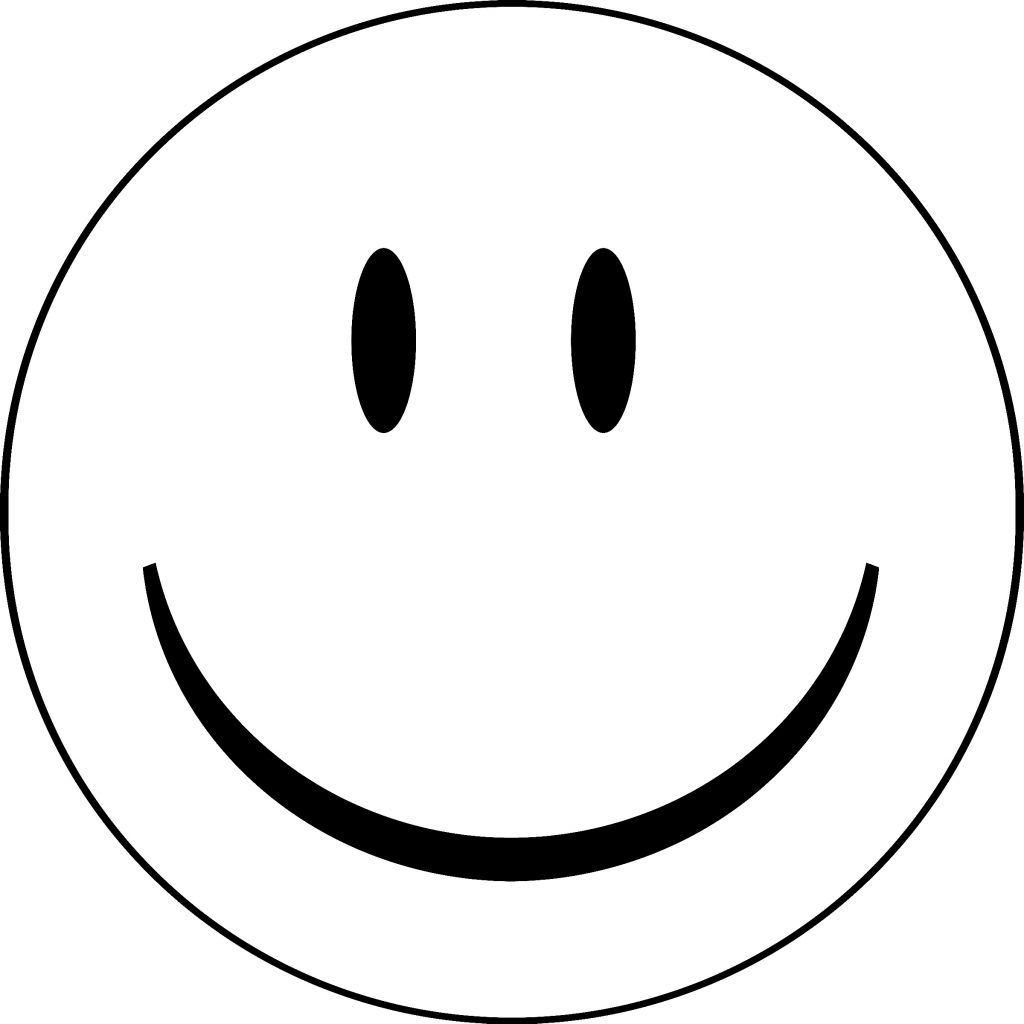 Happy Face Coloring - ClipArt Best