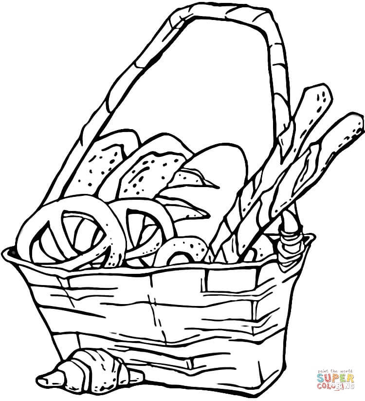 Bread Colouring Pages Clipart Best