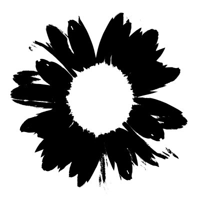 Black And White Abstract Daisy Mixed Media at ArtistRising. - ClipArt ...