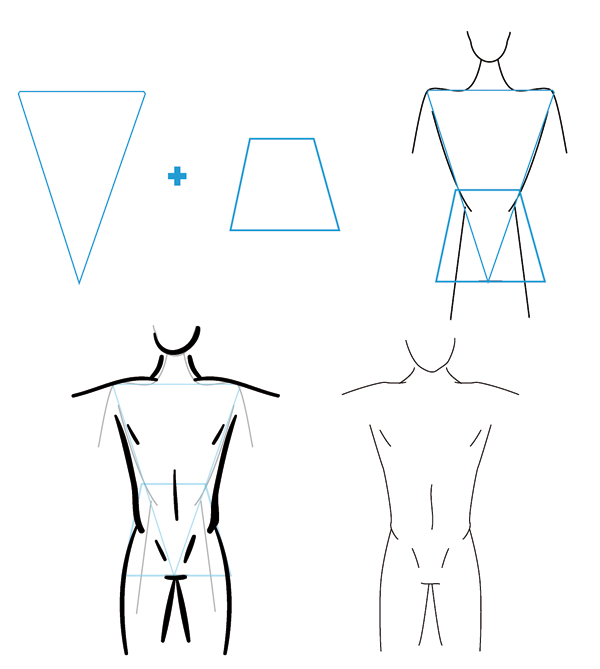 Line Drawing Body : Line drawing human body clipart best