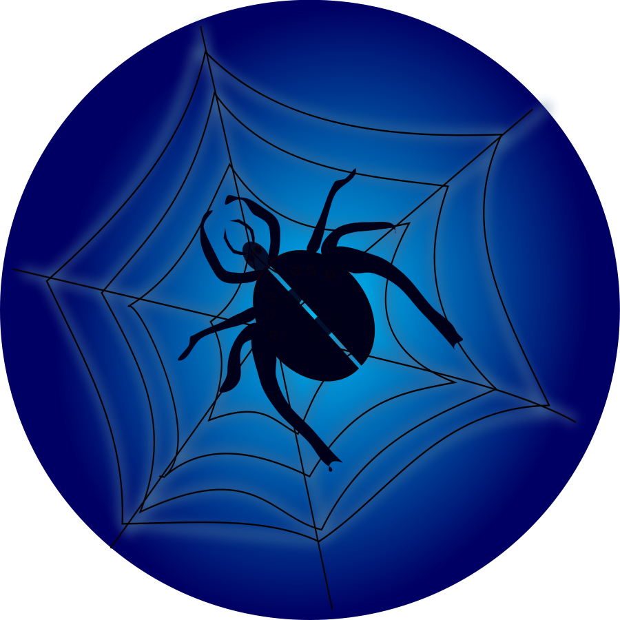 Outline of spiders on a web clipart best - Spider outline clip art ...