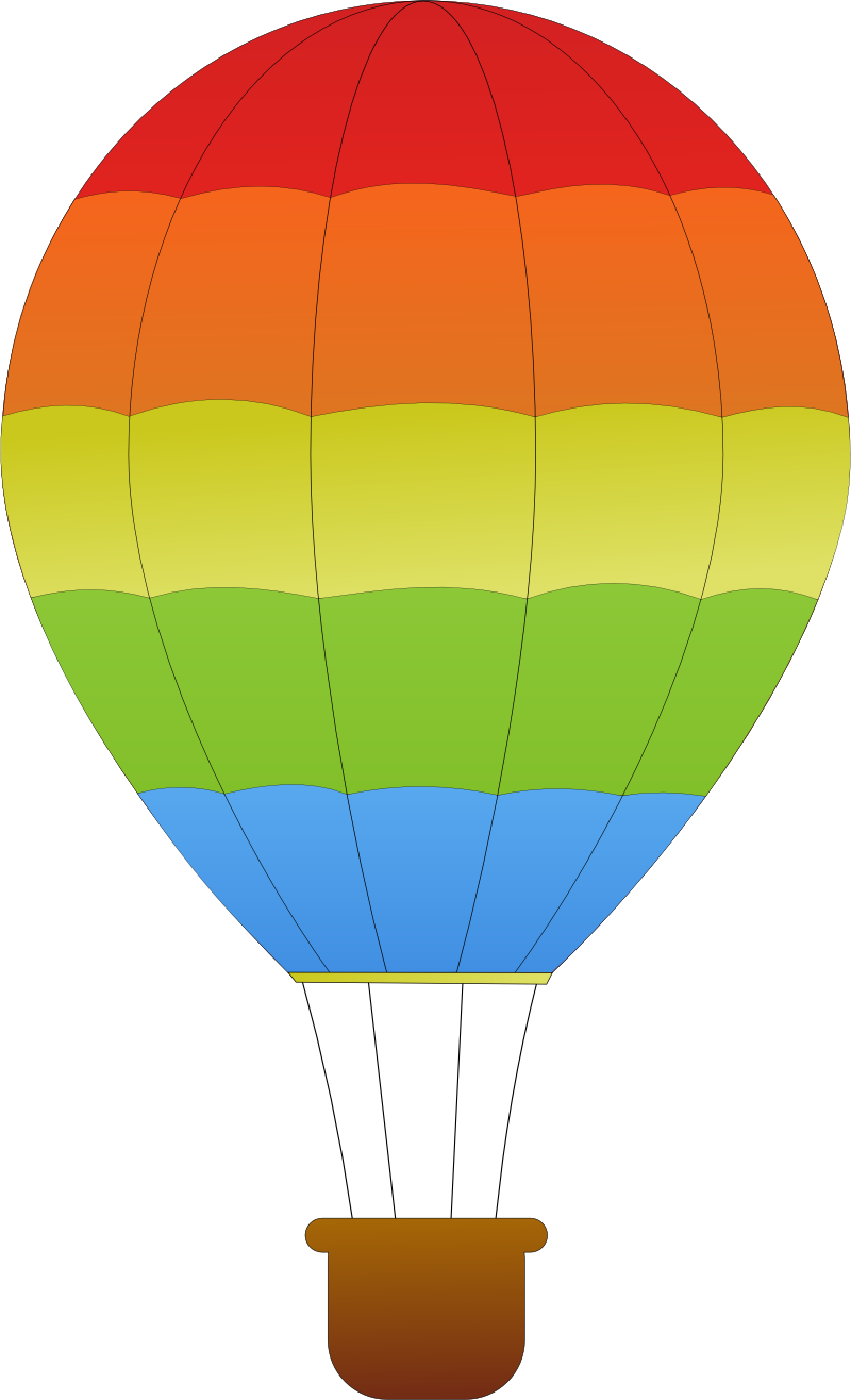 horizontal striped hot air balloons SVG