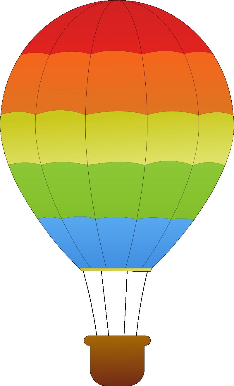 El Baño Azul Pozuelo:Hot Air Balloon Clip Art