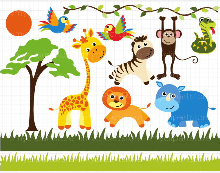 clipart jungle safari - photo #35