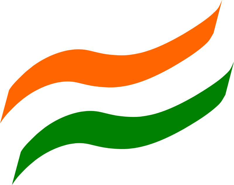 Indian Flag With Different Views: Indian Flag Clipart