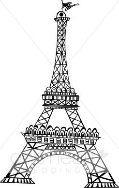 Eiffel Tower Clipart | Honeymoon Clipart