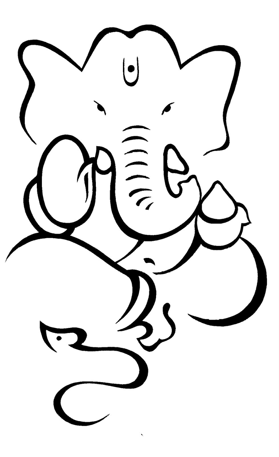 Ganesh Line Drawing : Line art ganesha clipart best