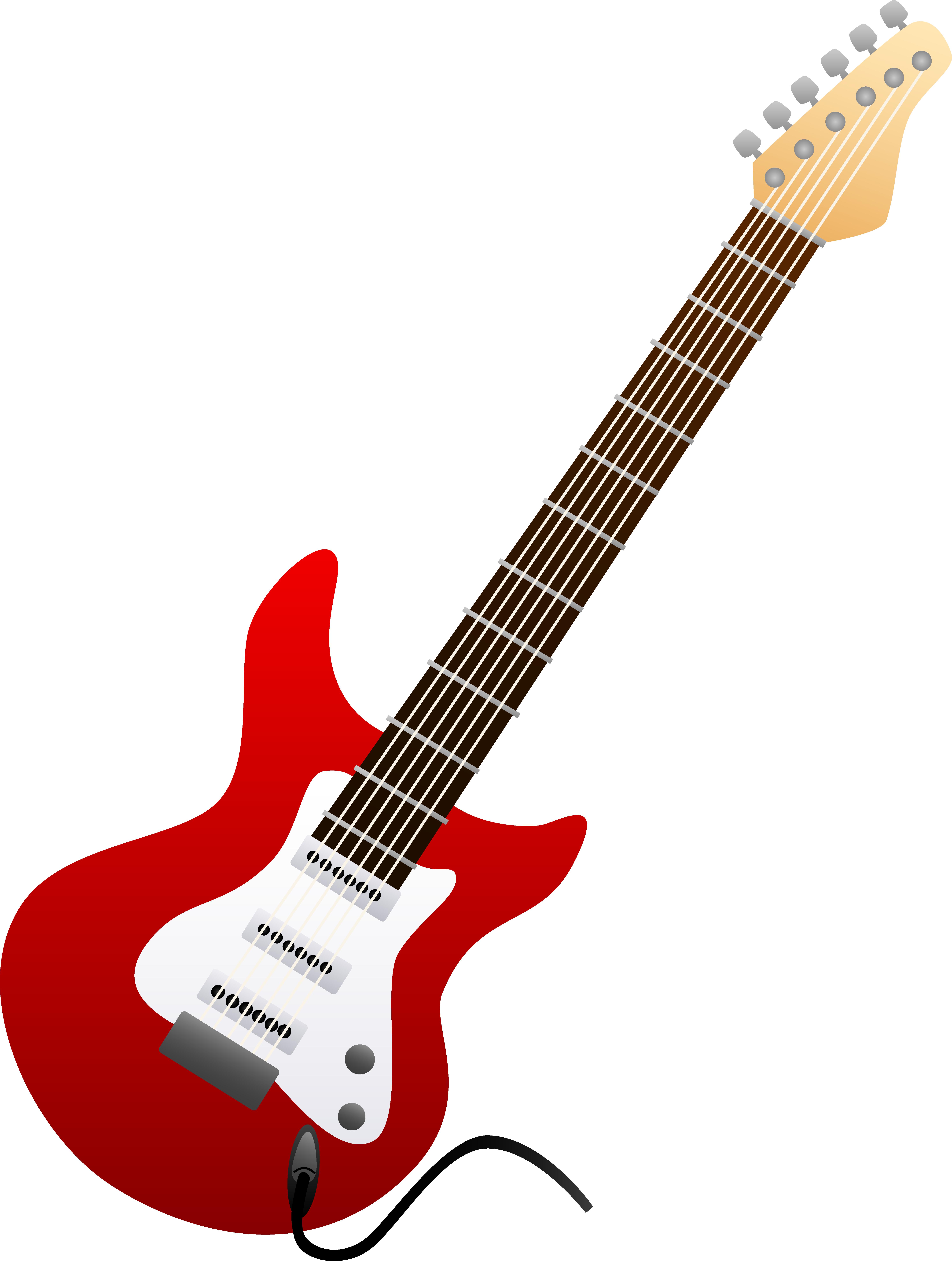 Red Electric Guitar Wallpaper