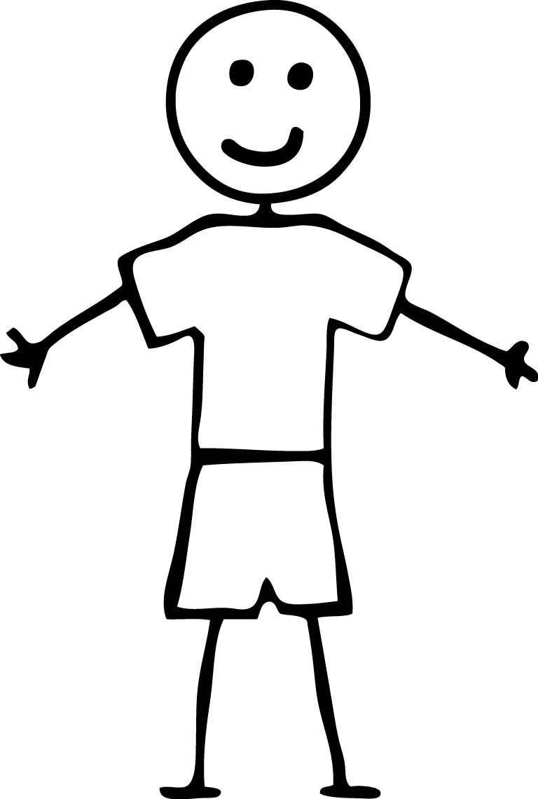 free stick person coloring pages - photo#29