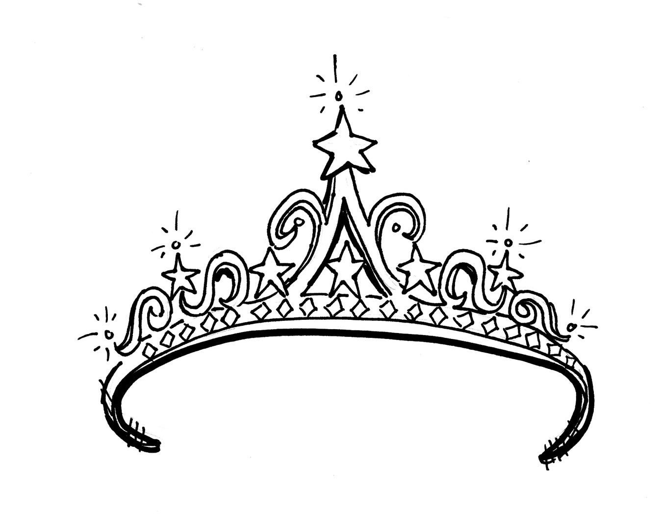 Princess Tiara Coloring Sheet - ClipArt Best