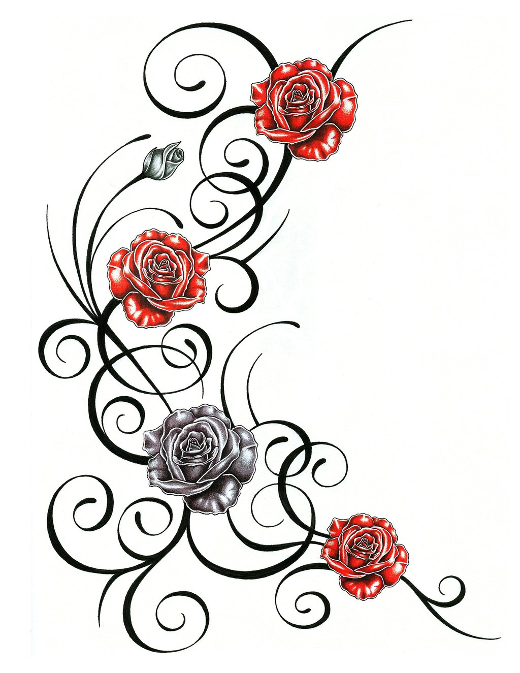 roses with tribal tattoo design clipart best clipart best