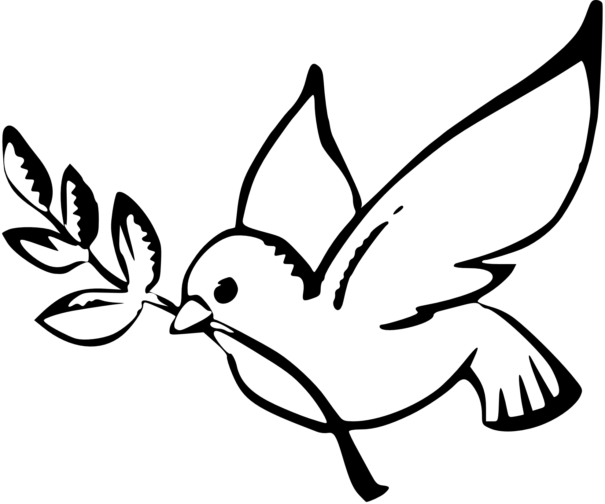 Peace Sign Clipart Black And White White Dove Peace Sign