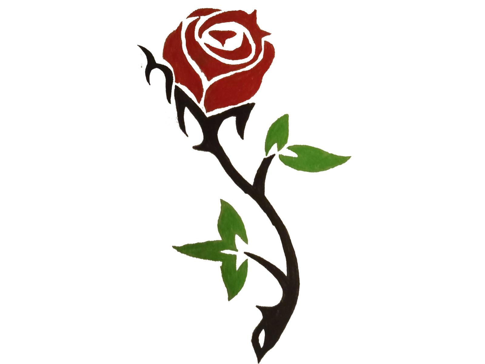 Simple Rose Designs - ClipArt Best - ClipArt Best