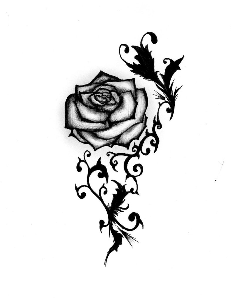 Free rose tattoo designs clipart best for Free tattoo design