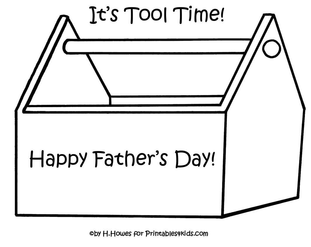 Toolbox Template For Kids