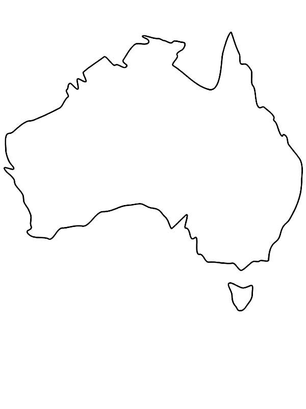 Australia Continent Outline Map