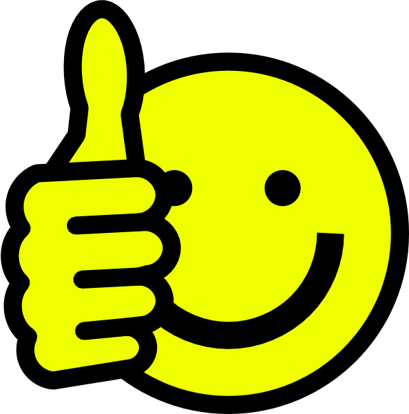 Clip Art Smiley Face With Thumbs Up
