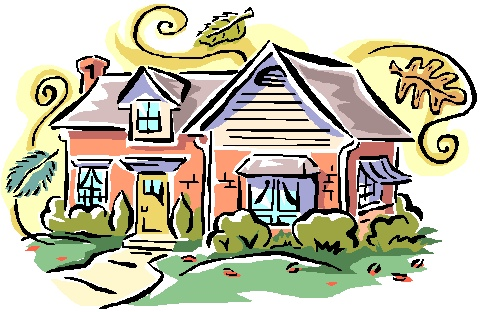 Pix For > Two Houses Side By Side Clip Art