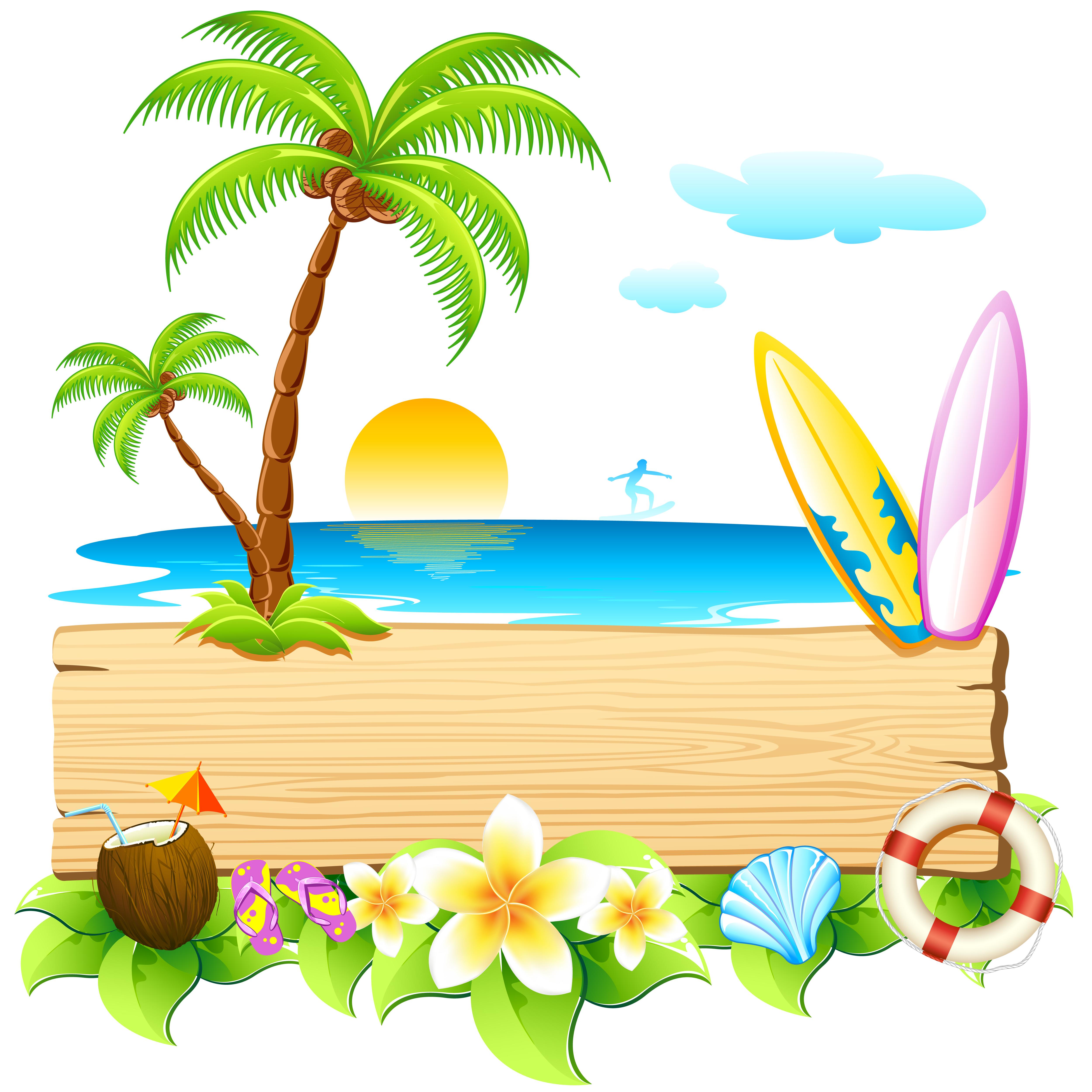 Beach Backgrounds Clipart