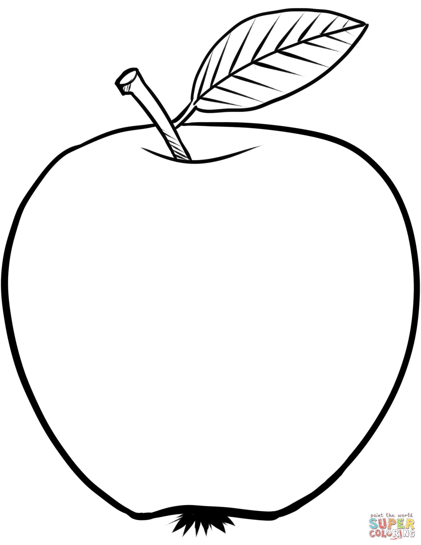 Coloring Pages Apple White : Coloring apple clipart best