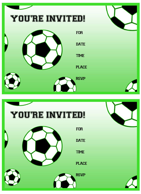 Free Printable Soccer Birthday Party Invitations - ClipArt Best - ClipArt Best