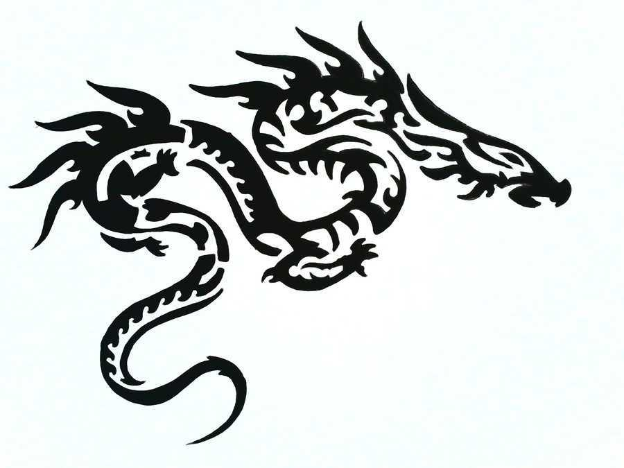 black amp white dragon tattoo designs by khomesclip redchn
