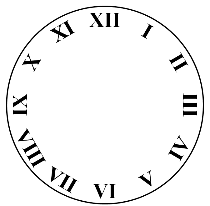 Square Clock Face Templates Free download