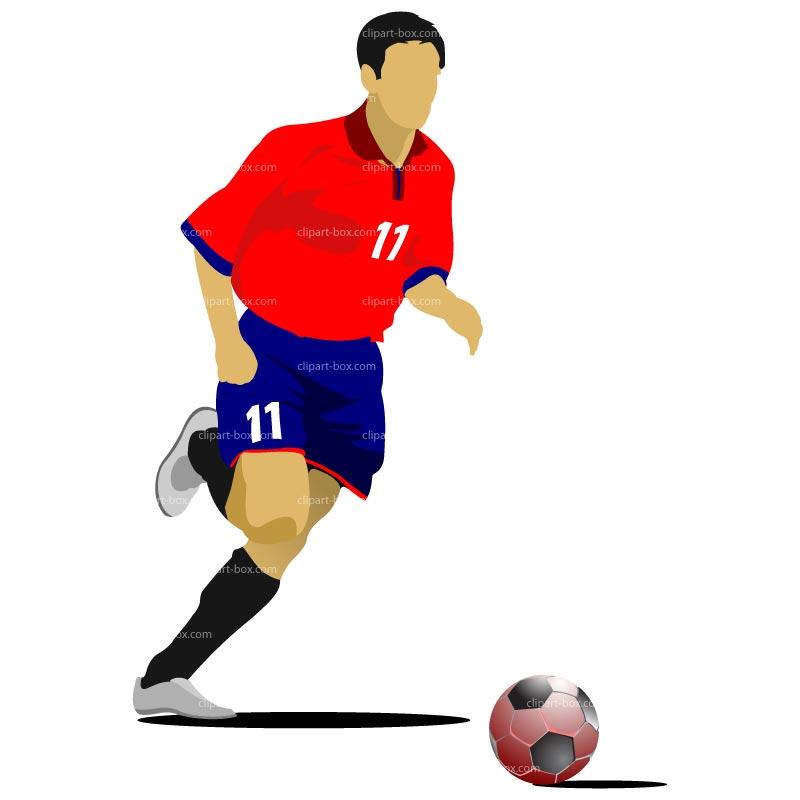 Clipart Footballer Free Soccer - ClipArt Best