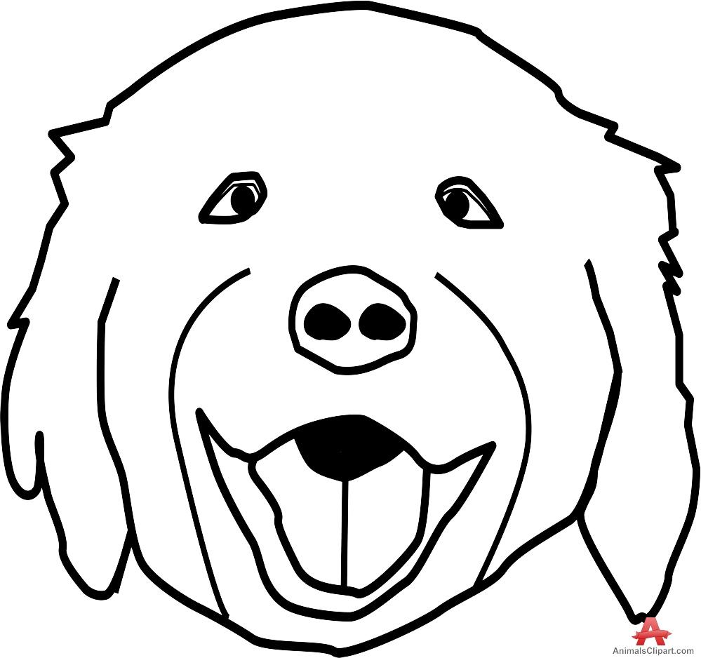 Line Drawing Of A Dog S Face : Dog face outline clipart best