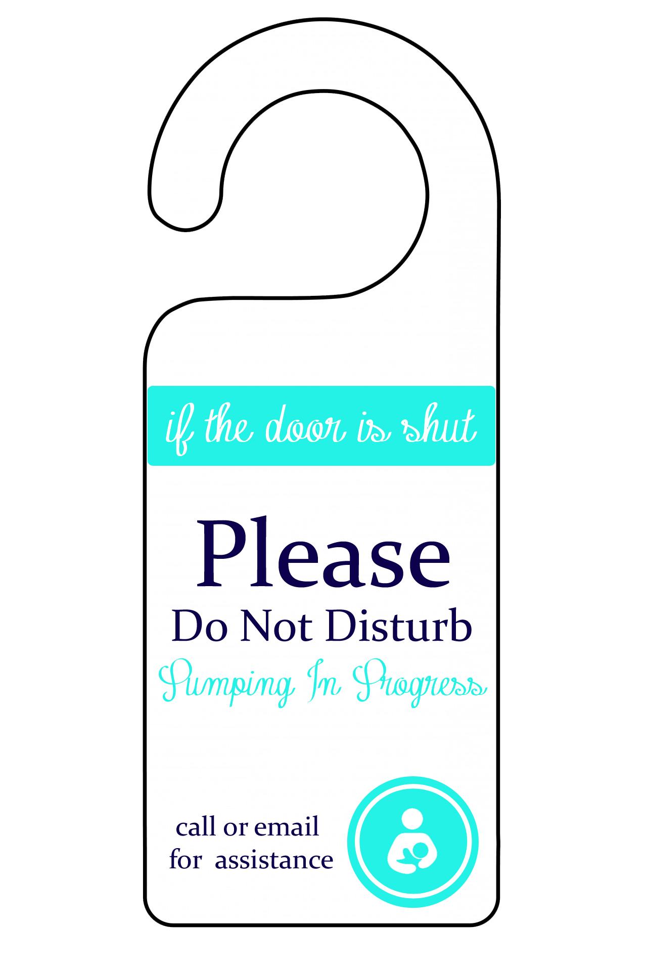 printable do not disturb signs