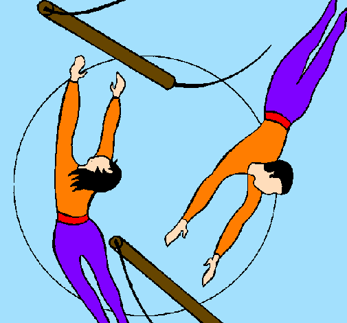 Trapeze Artist Coloring Pages - -  8.8KB