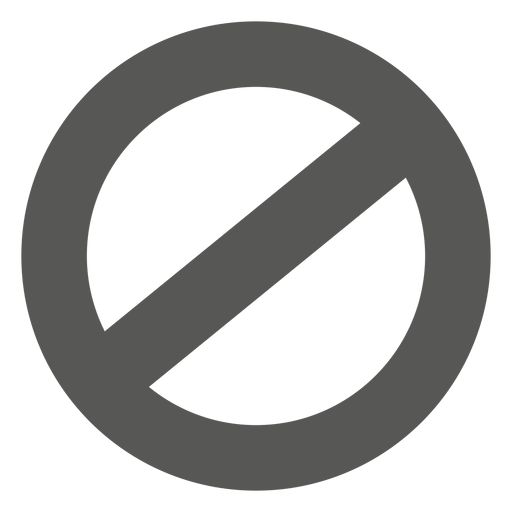 Ban circle sign - Transparent PNG/SVG