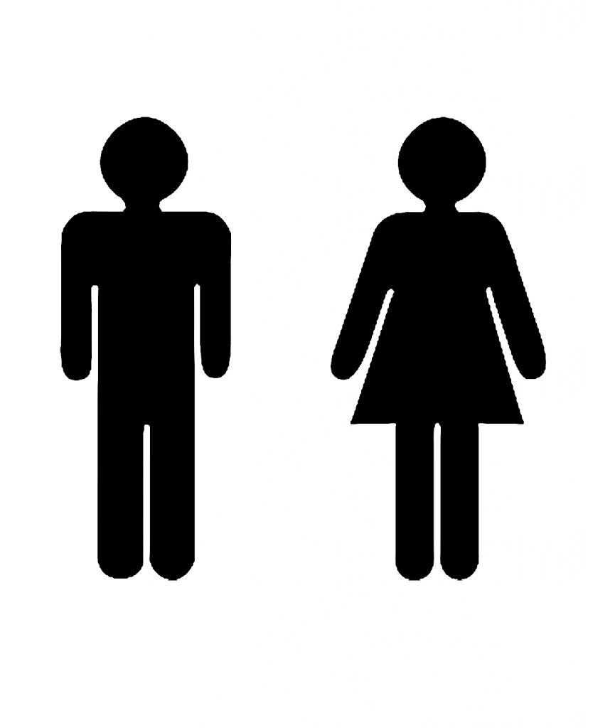Bathroom Sign People Clipart Best