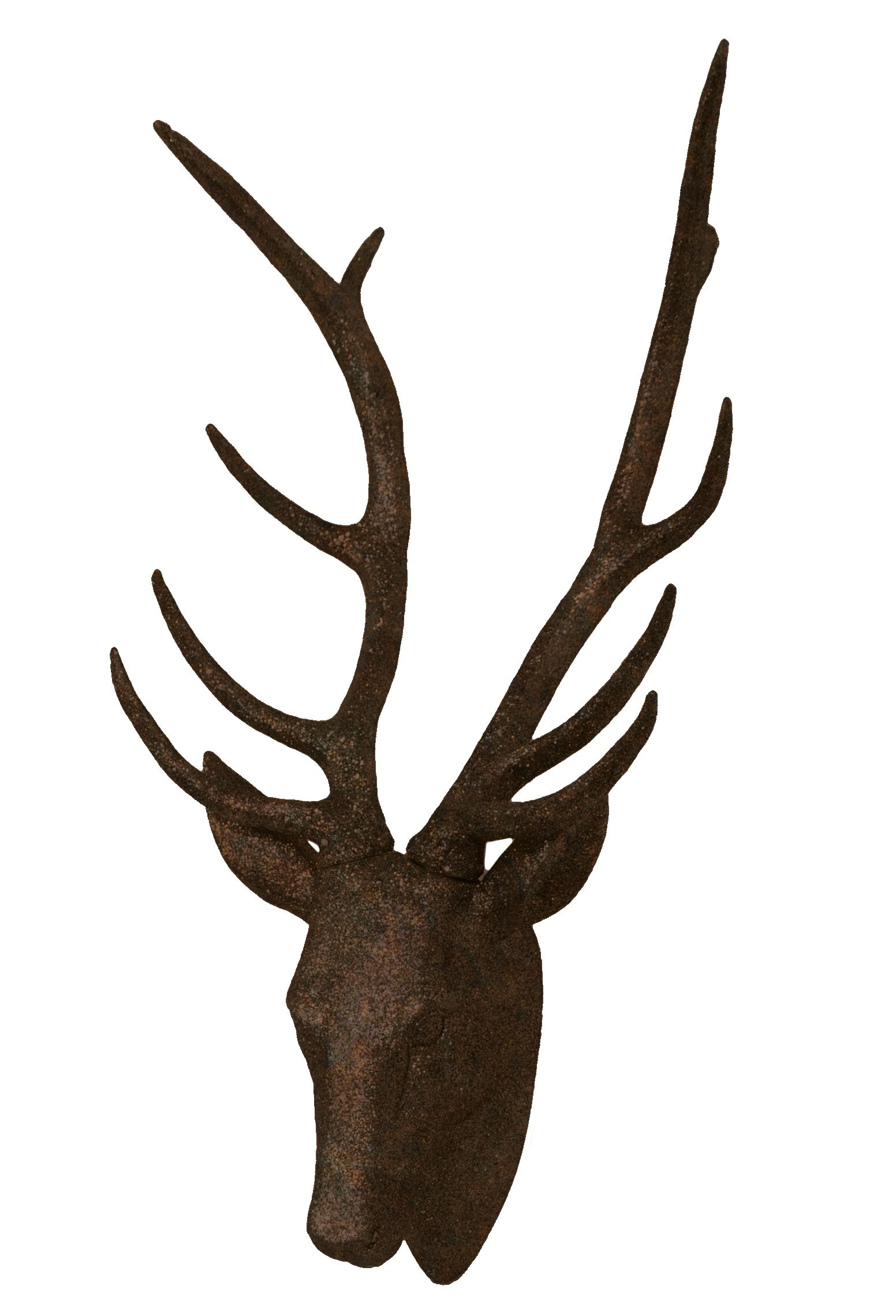Rust Faux Deer Head Rust Stag Modern Home Decor