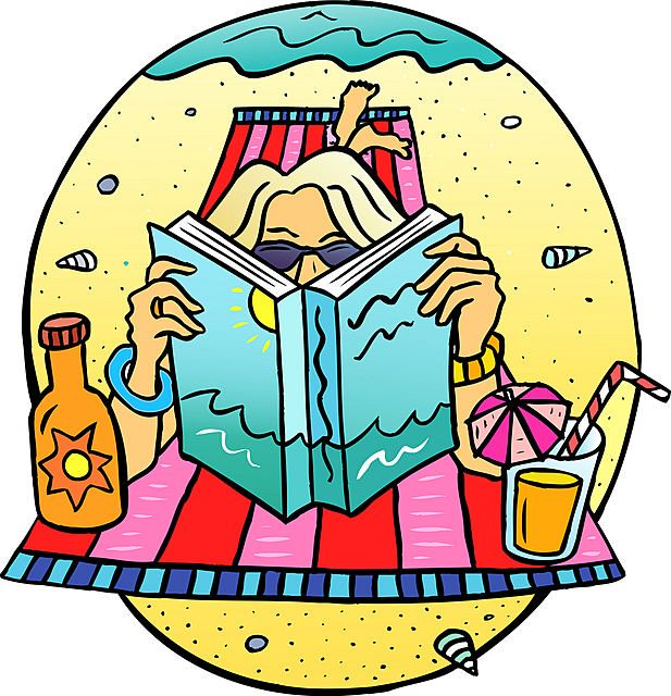 Go Back > Gallery For > Reading At The Beach Clipart