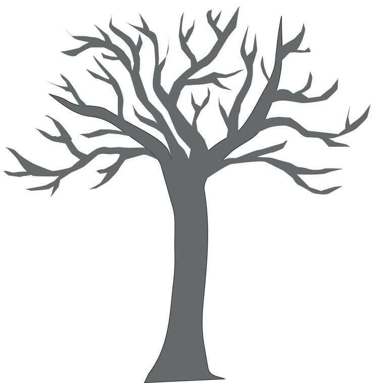Bare tree coloring pages