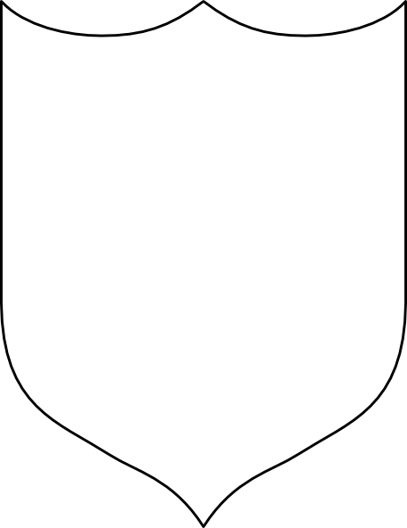 Blank shield clipart
