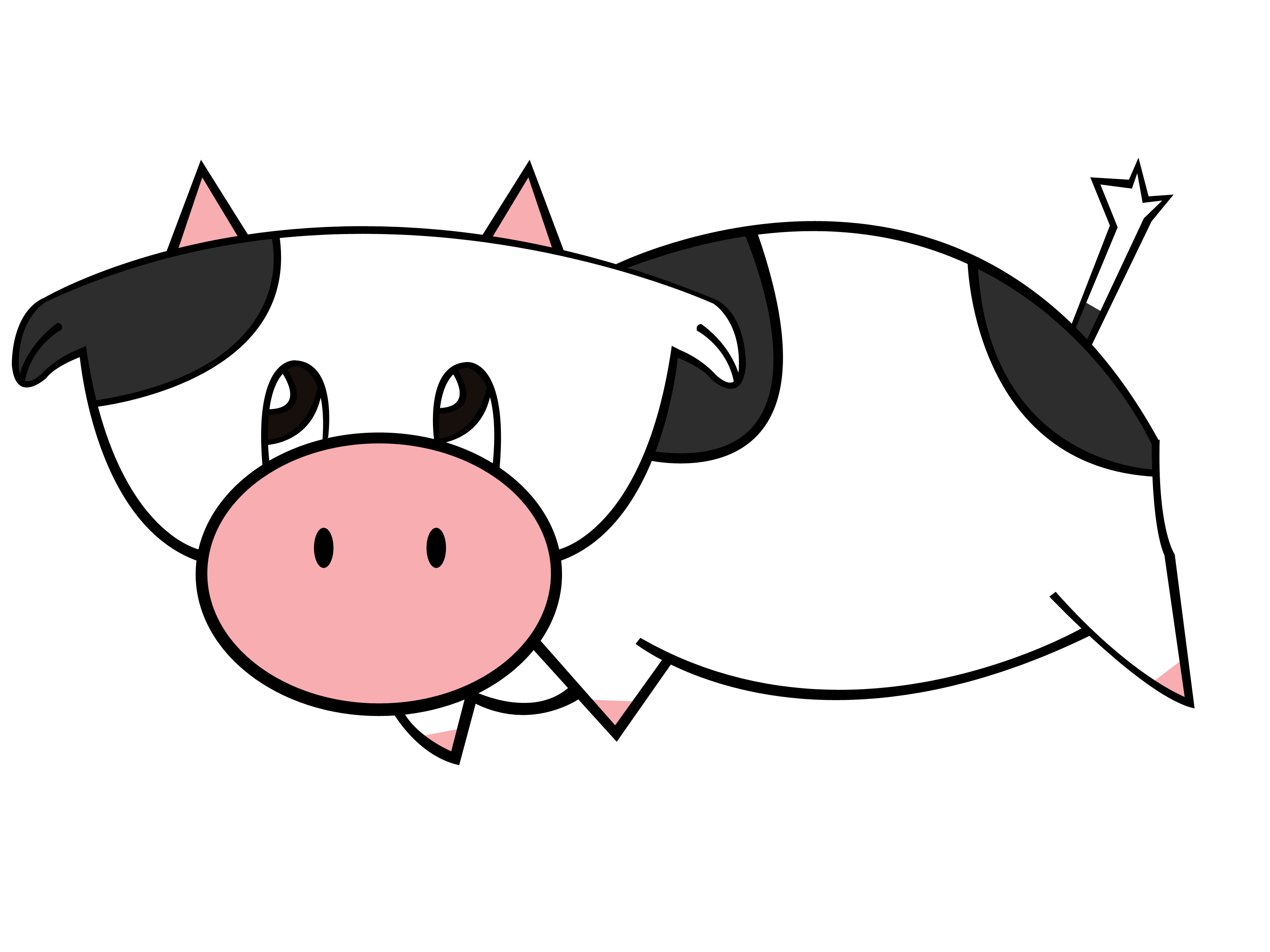 How To Draw A Cow For Kindergarteners - ClipArt Best