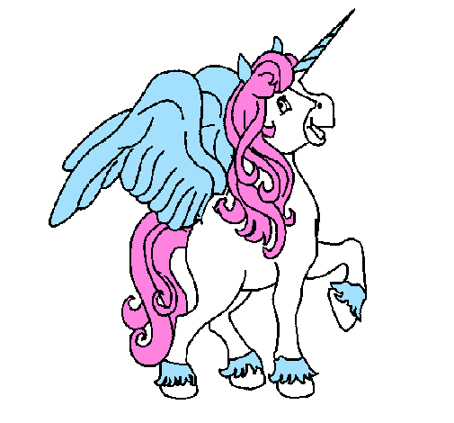 Coloring Pages Unicorn With Wings : Winged unicorn coloring pages clipart best